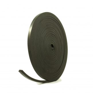 6mm Thick, 5m Long - Solid Black Neoprene Rubber Strips-0