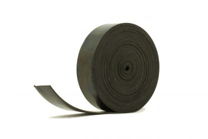 1.5mm Thick, 5m Long - Solid Black Neoprene Rubber Strips-0