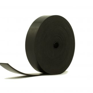 2mm Thick, 5m Long - Solid Black Neoprene Rubber Strips-0