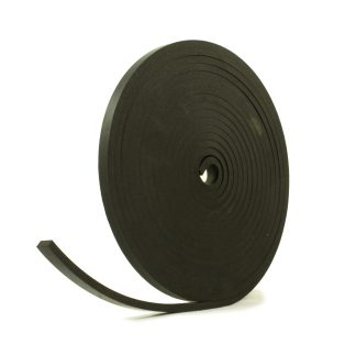 5mm Thick, 5m Long - Solid Black Neoprene Rubber Strips-0