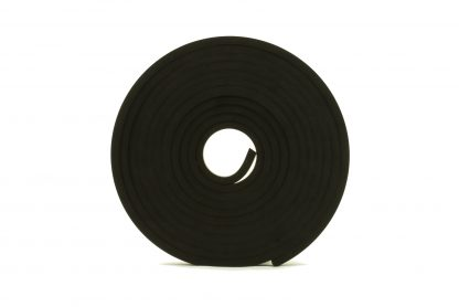 1mm Thick, 5m Long - Solid Black Neoprene Rubber Strips-60