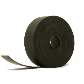 1mm Thick, 5m Long - Solid Black Neoprene Rubber Strips-0