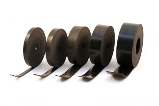Solid Black Commercial Rubber Strips