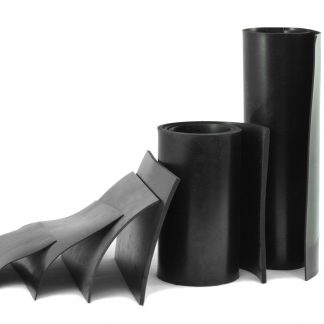 2mm Thick - Black Rubber Sheeting-0
