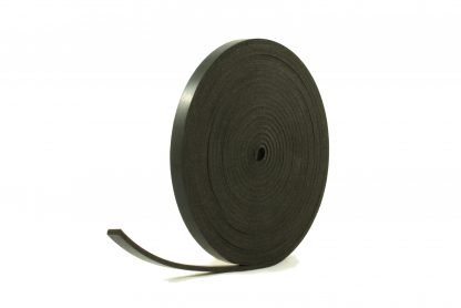 3mm Thick, 5m Long - Solid Black Neoprene Rubber Strips-0