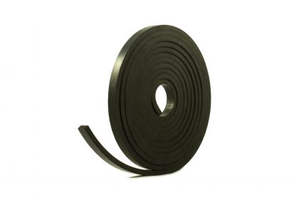 8mm Thick x 5.0m Long - Solid Black Neoprene Rubber Strips-0
