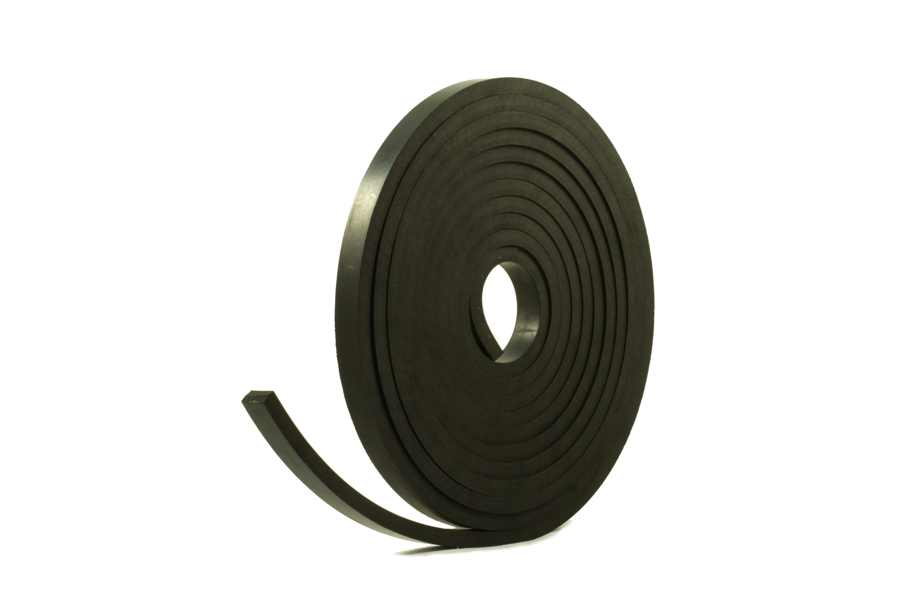 Rubber Strip 20mm Wide x 8mm Thick x 5m Long Solid Neoprene Black Rubber Strip